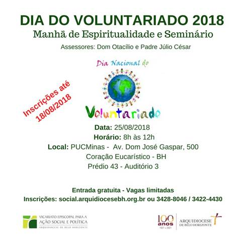 Participe do Dia do Voluntariado 2018